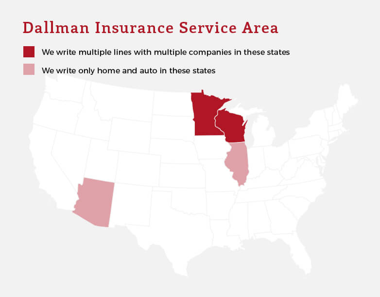 Dallman Insurance Agency, LLC Service Area